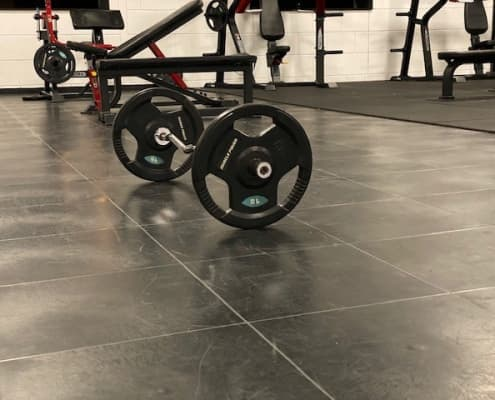 Fitness vloer dumbell